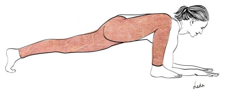 LIZARD-POSE-jambe-tendue-variation